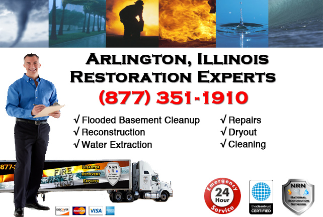 Arlington Flooded Basement Damage Repairs