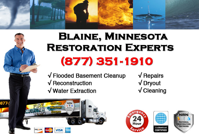 Blaine Flooded Basement Cleanup & Repairs