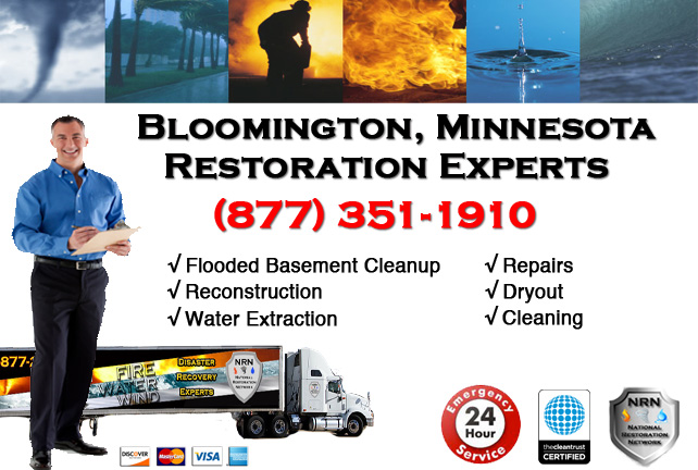 Bloomington Flooded Basement Cleanup & Repairs