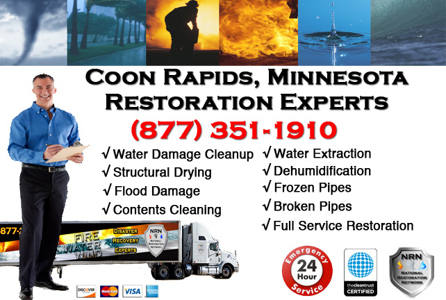 Coon Rapids Water Damage Cleanup & Repairs