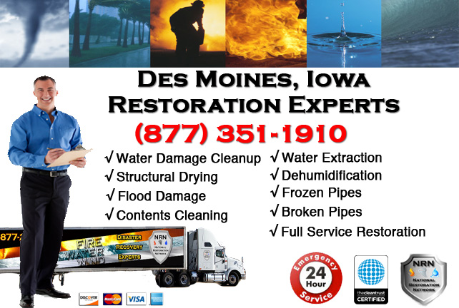Des Moines Water Damage Cleanup