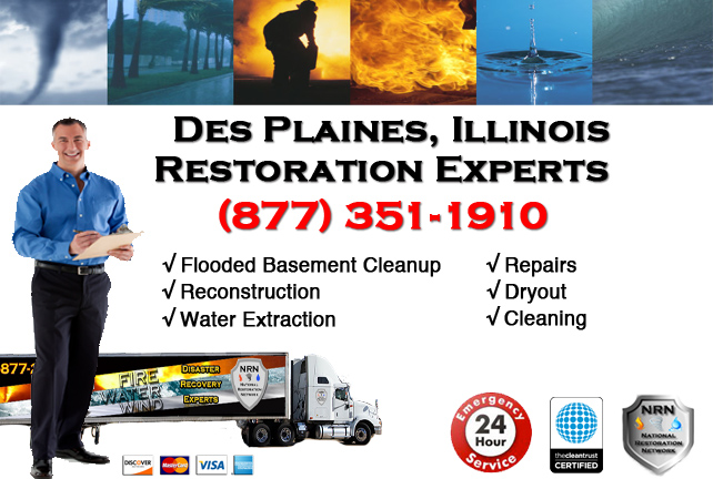 Des Plaines Flooded Basement Damage Repairs
