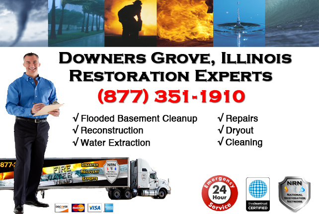 Downers Grove Flooded Basement Damage Repairs