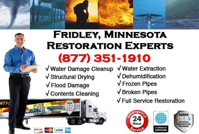 Fridley Water Damage Cleanup & Repairs