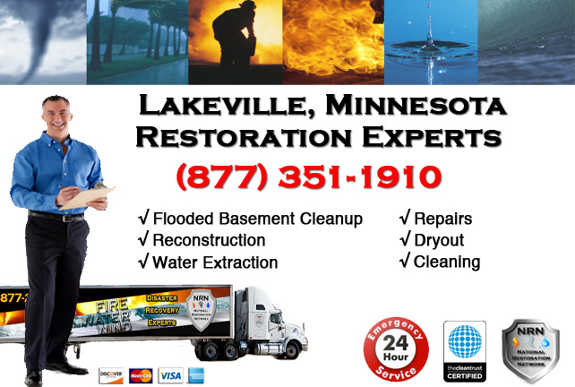 Lakeville Flooded Basement Cleanup & Repairs