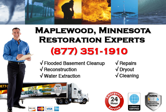 Maplewood Flooded Basement Cleanup & Repairs