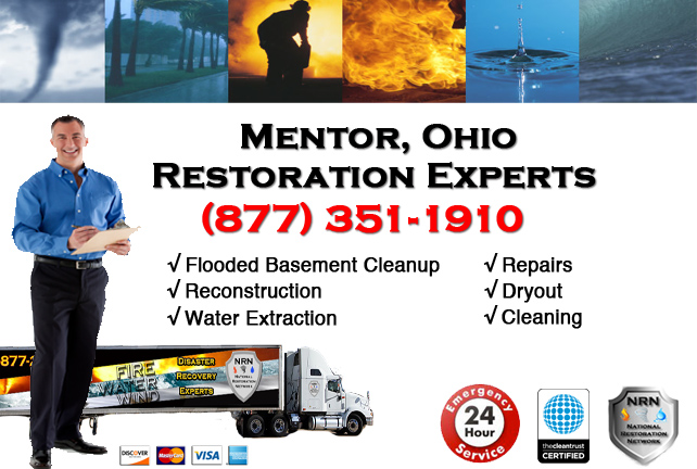Mentor Flooded Basement Cleanup Company