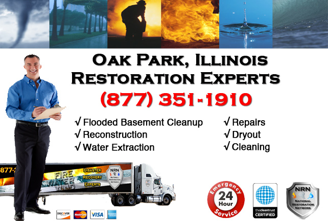 Oak Park Flooded Basement Damage Repairs