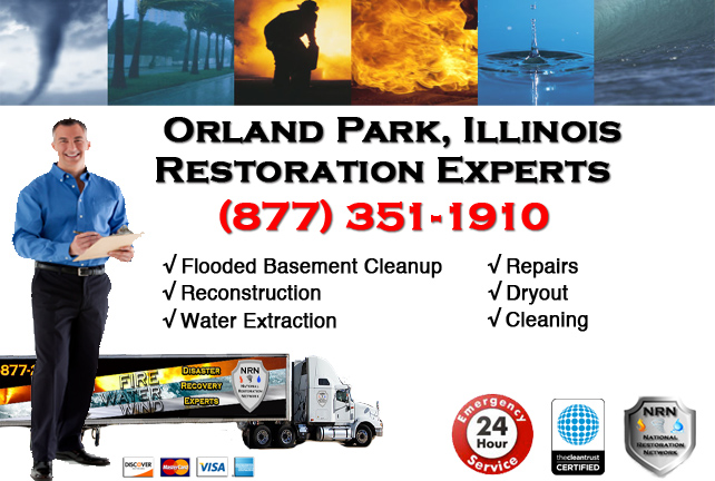 Orland Park Flooded Basement Damage Repairs