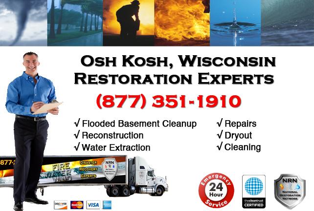 Oshkosh Flooded Basement Cleanup