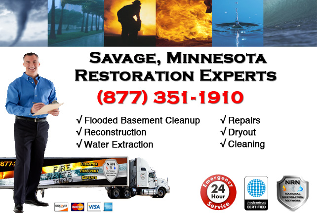 Savage Flooded Basement Cleanup & Repairs