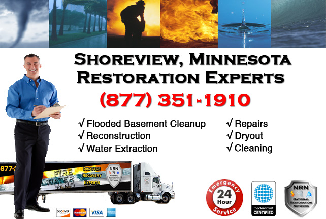 Shoreview Flooded Basement Cleanup & Repairs