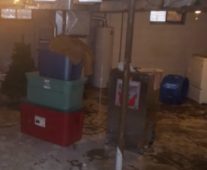 content in flooded basement