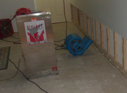 water damage cleanup photo