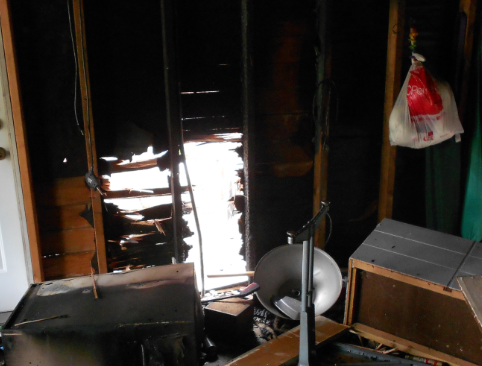 fire damage in garage 2