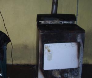 fire damaged stove