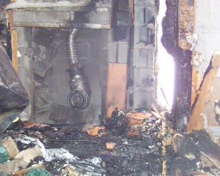 fire damage in basement