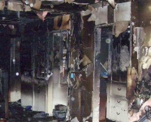 major fire and soot damages
