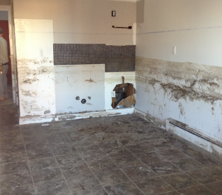 gutted out kitchen