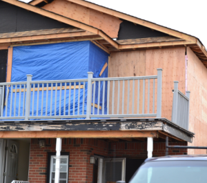 Homeowner suffers storm damage