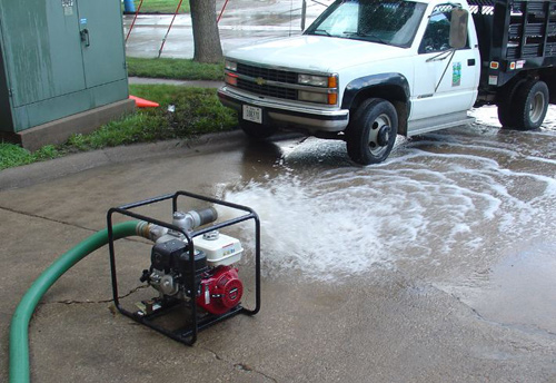 machine pumping water outside