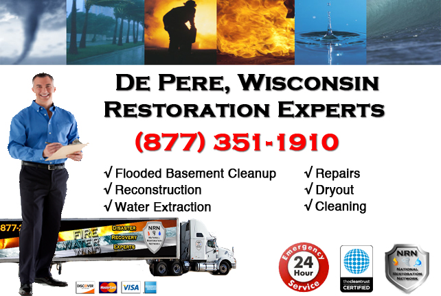 De Pere Flooded Basement Cleanup