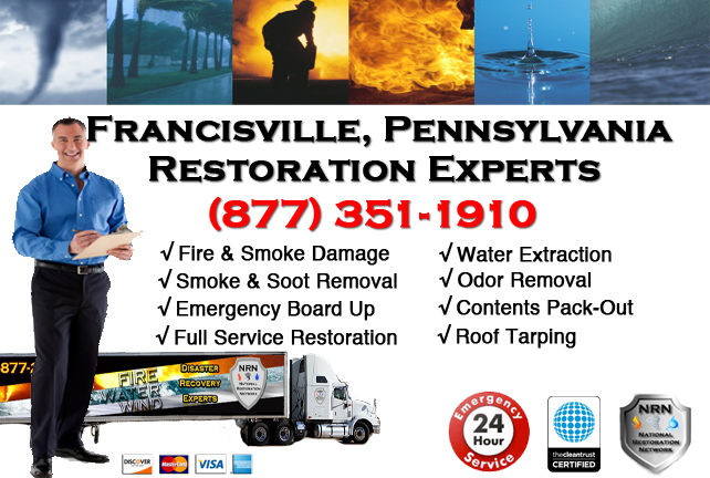 Francisville Fire and Smoke Damage Repairs