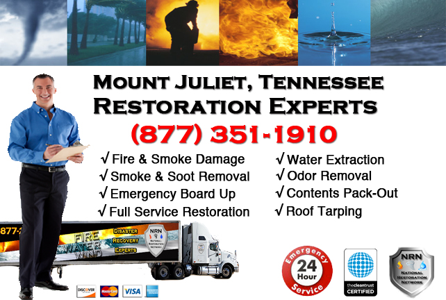 Mount Juliet Fire and Smoke Damage Repairs