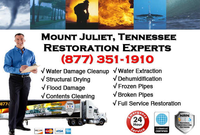 Mount Juliet Water Damage Restoration