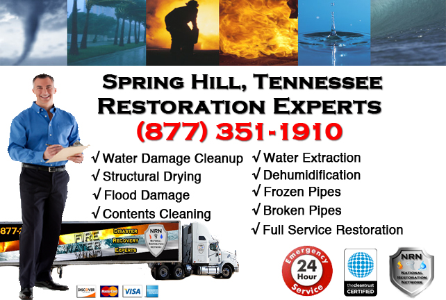 Spring Hill Water Damage Restoration