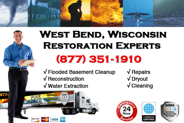 West Bend Flooded Basement Cleanup