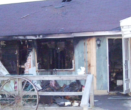 exterior fire damages photo