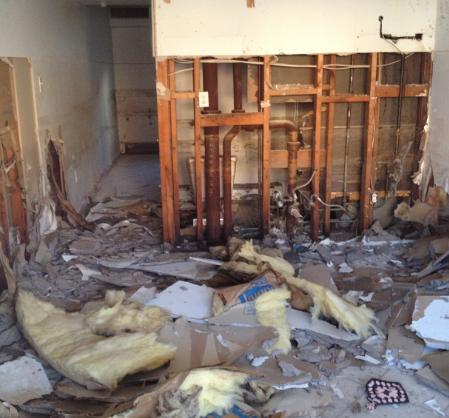 interior storm damage photo