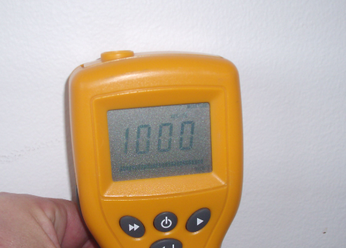moisture meter water damage reading
