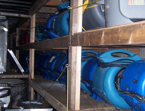 photo of flood damage equipment