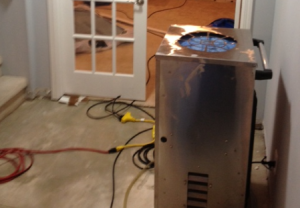 dehumidifiers assists with the drying out process