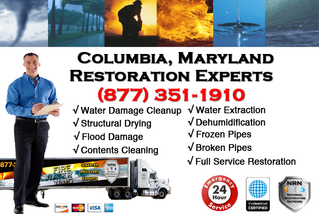 Columbia Water Damage Cleanup