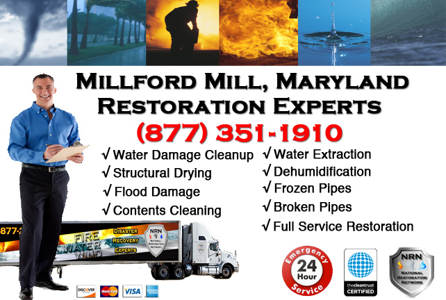 Millford Mill Water Damage Cleanup