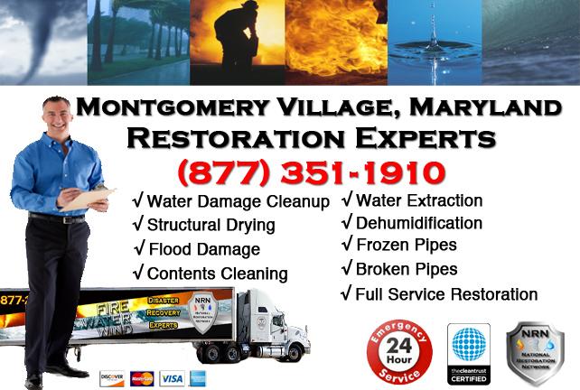 Montgomery Village Water Damage Cleanup