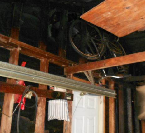 fire damage in garage