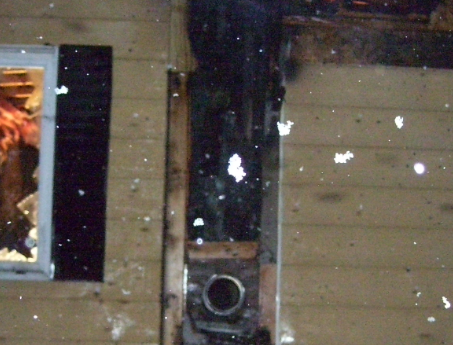 fire damage to siding