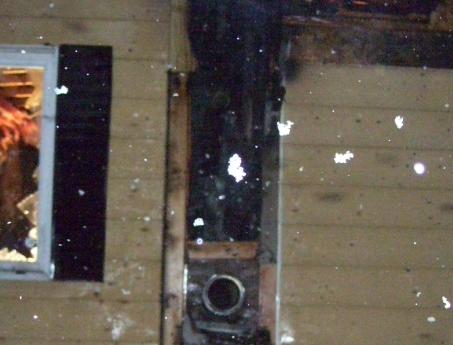 fire damage to siding