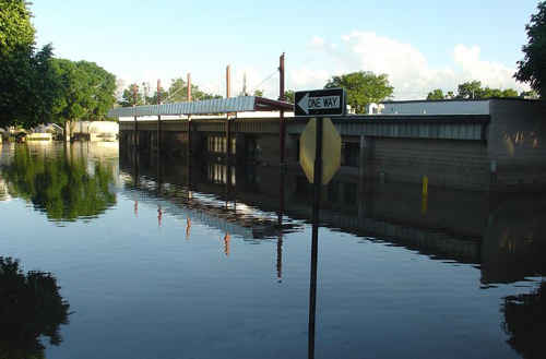 picture of flooded street