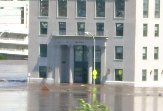 picture of official building flooded