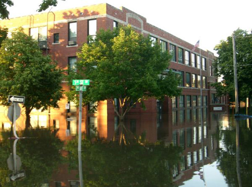 major flooding in building