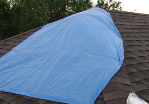 tarped up roof 2