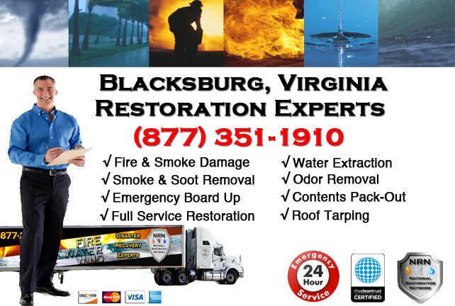 Blacksburg Fire and Smoke Damage Restoration