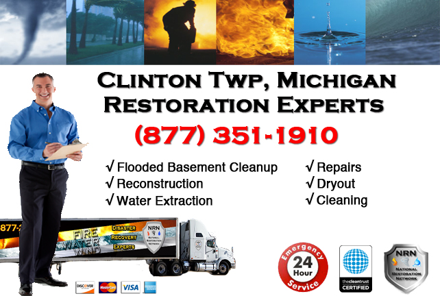 Clinton Township Flooded Basement Cleanup