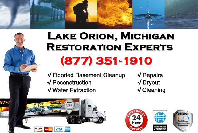 Lake Orion Flooded Basement Cleanup