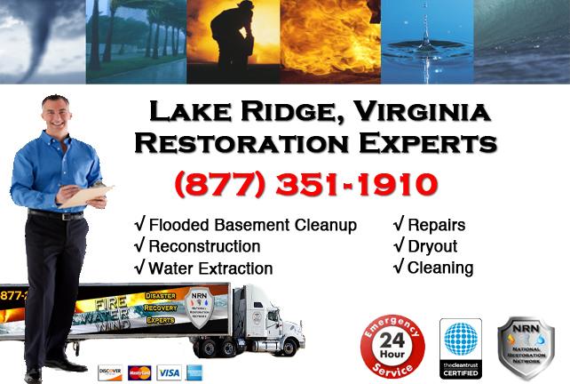 Lake Ridge Flooded Basement Cleanup